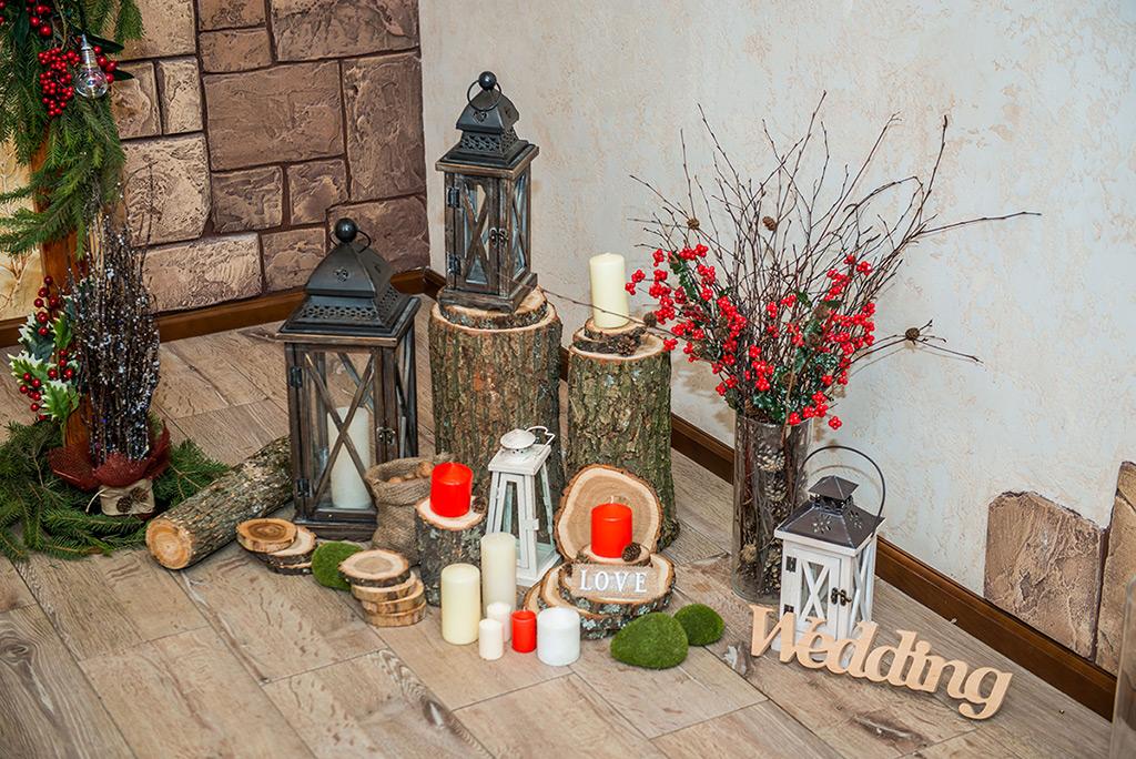 Свадебный декор - стиль Рустик
